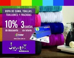 Promo en blanquería en Joynell con Tarjeta CTAM